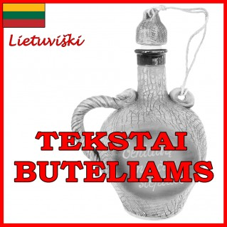 Tekstai buteliams lietuviški
