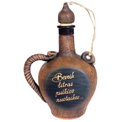Butelis su individualiu užrašu