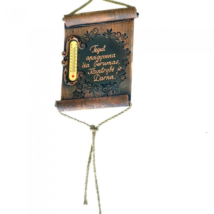 Termometras pergamentas su individualiu užrašu