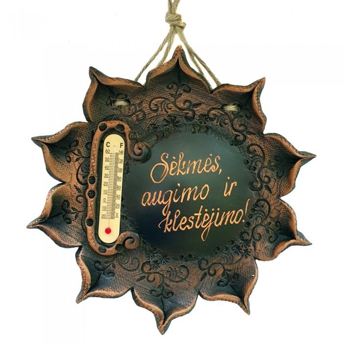 Termometras - saulė su individualiu užrašu
